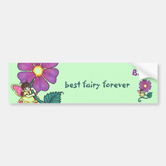 Flower Fairy Bumper Sticker