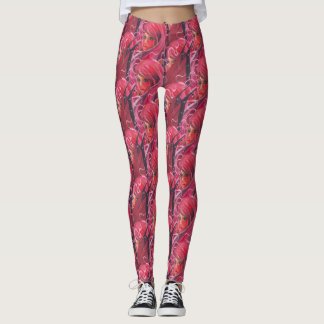 Flower fairy print leggings