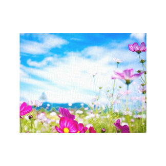 Flower Field of Dreams Canvas Prints