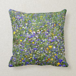 """""""Flower Field"""" Throw Pillow"""