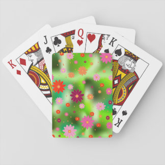 flower fields playing cards