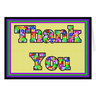 Flower-Filled Thank You Card