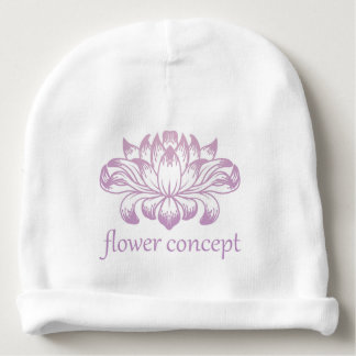 Flower Floral Abstract Concept Icon Baby Beanie