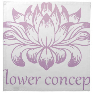 Flower Floral Abstract Concept Icon Napkin