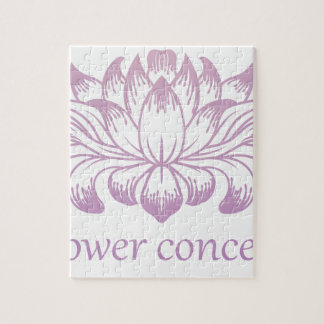 Flower Floral Abstract Concept Icon Puzzle