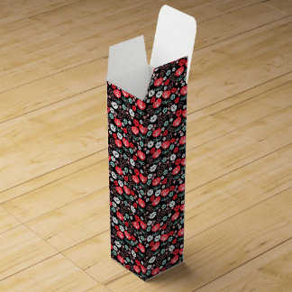 Flower - Floral Black Mint Pink / Andrea Lauren Wine Gift Box