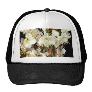Flower Floral Bouquet Blue White Pattern Texture Trucker Hat