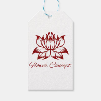 Flower Floral Design Concept Icon Gift Tags