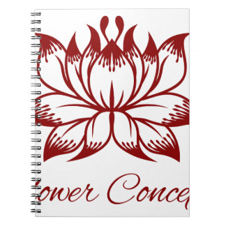 Flower Floral Design Concept Icon Note Books