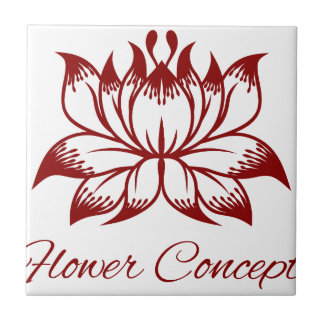 Flower Floral Design Concept Icon Tile