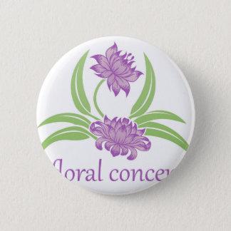 Flower Floral Icon 2 Inch Round Button