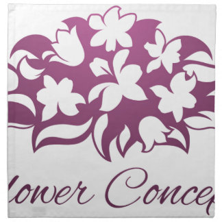 Flower Florist Floral Design Icon Napkin