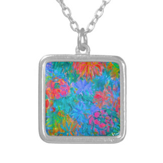 Flower Flow Silver Plated Necklace