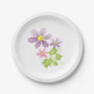 Flower flower mosaic 2 paper plate