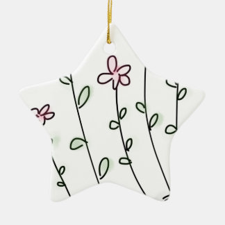 flower flowers custom personalize Anniversaries Ceramic Star Ornament