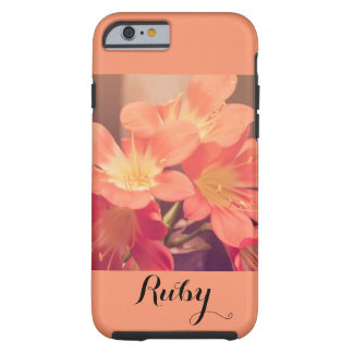 Flower Flowers Flora Botanical Peach Tough iPhone 6 Case