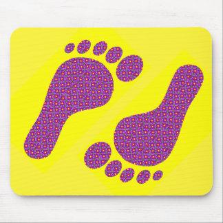 Flower Footprints Mouse Pad