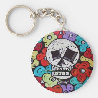 Flower For You - Dia De Los Muertos Basic Round Button Keychain