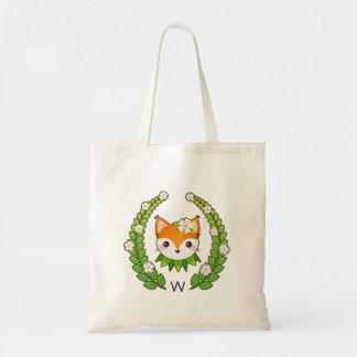 Flower Fox Monogrammed