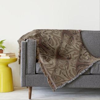 Flower frames throw blanket