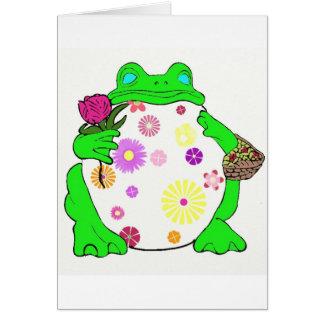 Flower Frog Card