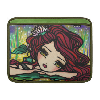 Flower Frog Lilypad Pond Mermaid MacBook Sleeve