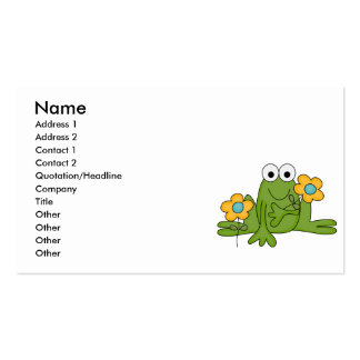 flower froggy frog business card templates