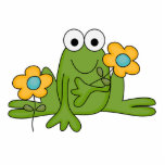 flower froggy frog photo sculptures