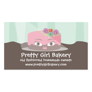 Flower frosted decorated cake baking business card