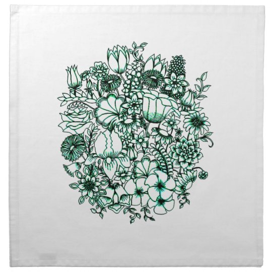 Flower Garden 1 Cloth Napkins