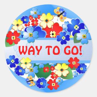 Flower Garden ~ Award Sticker