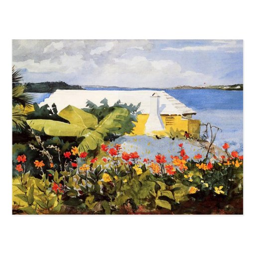 Flower Garden & Bungalow by Winslow Homer Postcards