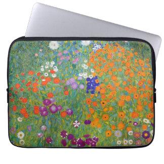 Flower Garden by Gustav Klimt Laptop Sleeve