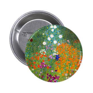 Flower Garden by Gustav Klimt Vintage Floral Buttons