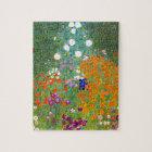 Flower Garden by Gustav Klimt Vintage Floral Jigsaw Puzzle