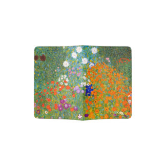 Flower Garden by Gustav Klimt Vintage Floral Passport Holder