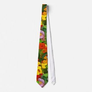 Flower Garden Colors Abstract Tie