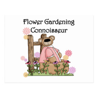Flower Garden Connoisseur T shirts and Gifts Postcard