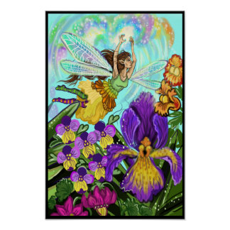 Flower Garden Fairy Magic Poster