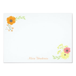 Flower Garden Flat Note Cards