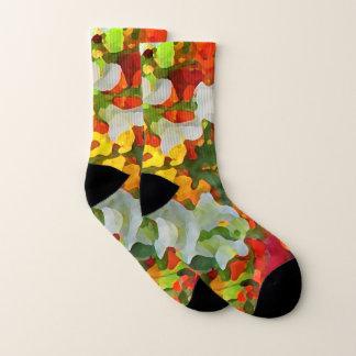 Flower Garden Floral Pattern Socks 1