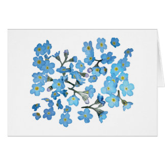 Flower Garden - Forget Me Nots Card