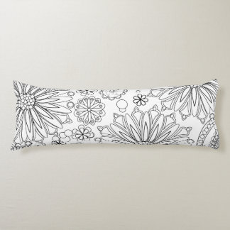 "Flower Garden Galaxy Body Pillow 20"" x 54"""