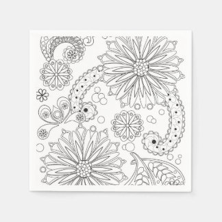 Flower Garden Galaxy Cocktail Paper Napkins