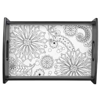 Flower Garden Galaxy Small Serving Tray