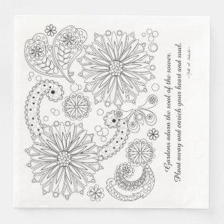 Flower Garden Galaxy White Standard Dinner Kapkins Paper Napkin