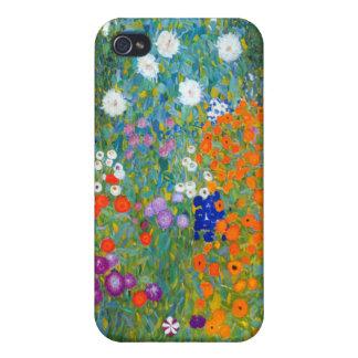 Flower Garden, Gustav Klimt Cover For iPhone 4