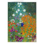 Flower Garden, Gustav Klimt Greeting Card