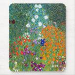 Flower Garden, Gustav Klimt Mouse Pad
