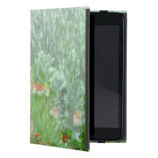 Flower Garden in Rain Green iPad Mini Case